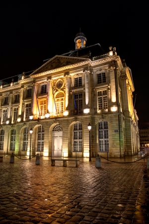 Square of the bourse, Bordeaux, Gironde, Aquitaine, France Stock Photo - 17654108