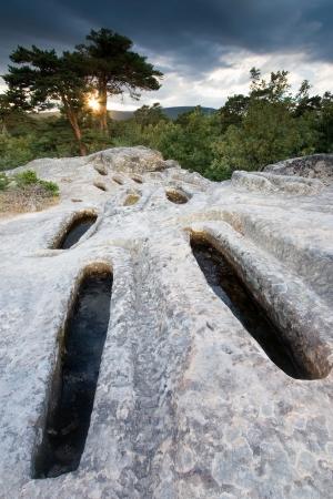 Necropolis of Cuyacabras, Quintanar de la Sierra, Sierra de la Demanda, Burgos, Castilla y Leon, Spain Stock Photo - 17651303
