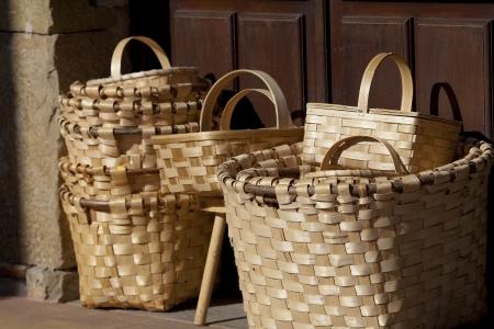cantabria: Baskets in Lierganes, Cantabria, Spain
