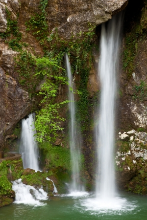 covadonga: Waterfall in Covadonga, Asturias, Spain Stock Photo