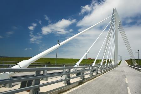 cantabria: Bridge of the scientific tecnological park of Santander, Cantabria, Spain Stock Photo