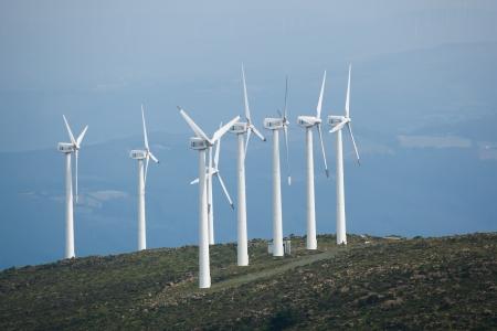 wind energy: Wind generators, A Capelada, La Coruna, Galicia, Spain