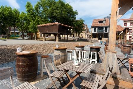 aviles: Square of Aviles, Asturias, Spain Stock Photo