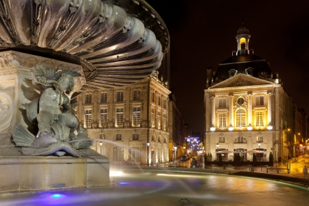 aquitaine: Fountain of the three graces, Bourse square, Bordeaux, Gironde, Aquitaine, France
