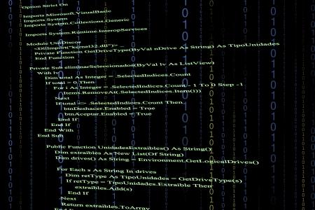 黒の背景のソース コード