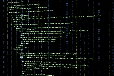 Source code in black background Stock Photo - 22609171