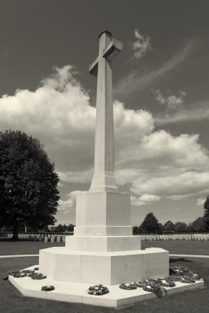 seconda guerra mondiale: Cimitero inglese della Seconda Guerra Mondiale, Bayeux, Calvados, Normandia, Francia Archivio Fotografico