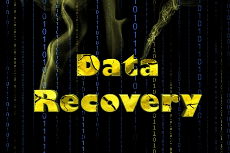 data recovery: Word Data recovery isolated on black