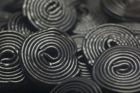 liquorice: Detail of Liquorice snails