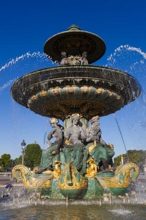 fontaine: Fontaine des Fleuves, Concorde square, Paris, Ile de France, France Stock Photo