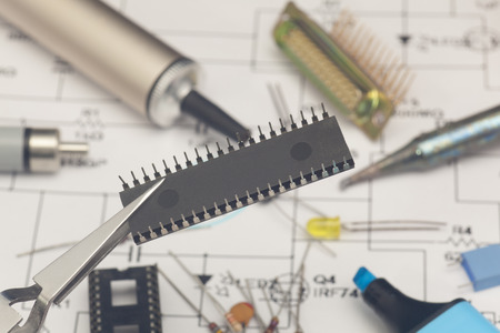 Electronic components photo