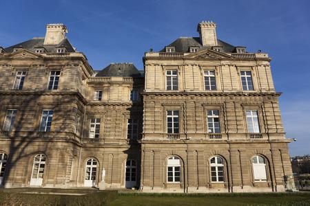 jardin de luxembourg: Palais du Luxembourg, Paris, France Editorial