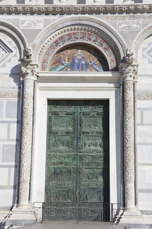 pise: Door of the Piazza dei Miracoli in Pisa, Tuscany, Italy