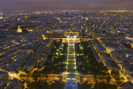 nightfall: Nightfall in Paris, Ile-de-France, France