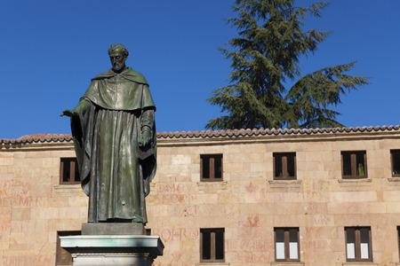 fray: Sculpture of Fray Luis de Leon, Salamanca, Castilla y Leon, Spain