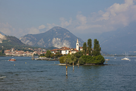 maggiore: The fishermen island, Borromean Islands, Lake Maggiore, Piedmont, Italy Stock Photo
