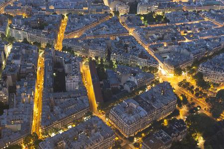 nightfall: Nightfall in Paris, Ile-de-France, France