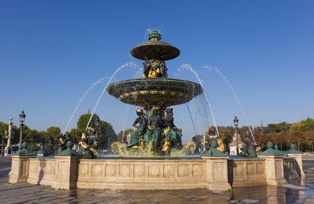 fontaine: Fountain des Mers, Concorde square, Paris, Ile de France, France Stock Photo