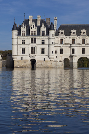 Castle of Chenonceaux, Indre-et-Loire, Centre, France Editorial