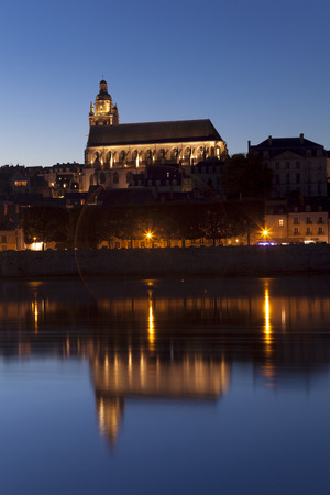 Church of Blois at night, Loire et cher, Centre, France