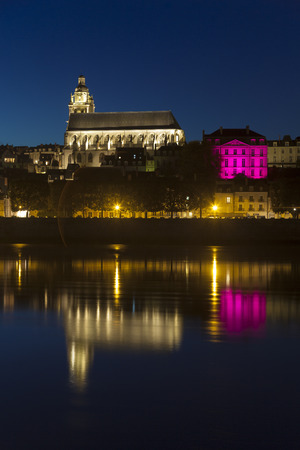 Blois at night, Loire et cher, Centre, France
