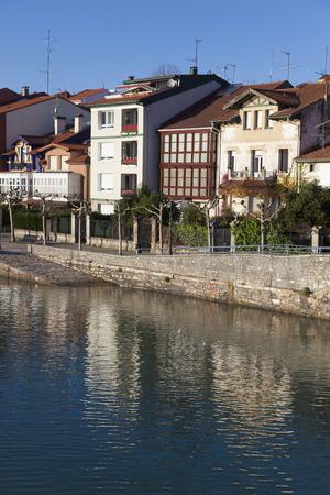 reflect: Reflect in Plentzia, Bizkaia, Basque Country, Spain Stock Photo