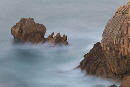 cantabria: Sea in Liencres, Cantabria, Spain Stock Photo