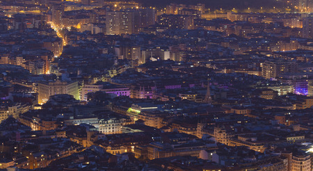 nightfall: Nightfall in Bilbao, Bizkaia, Basque Country, Spain