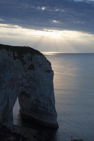 pays: Cliff in Etretat, Cote dAlbatre, Pays de Caux, Seine-Maritime department, Upper Normandy region, France
