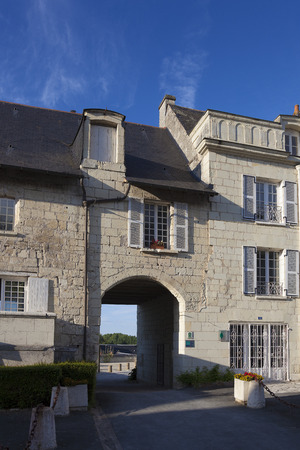 pays: Architecture of Montsoreau, Maine-et-Loire, Pays de la Loire, France