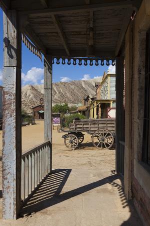 Mini Hollywood Film set, Desert of Tabernas, Almeria Province, Andalusia, Spain Stock Photo