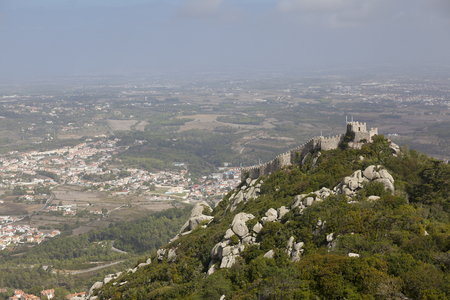 sintra: Ruins of Castle of the Moors, Sintra, Portugal Editorial
