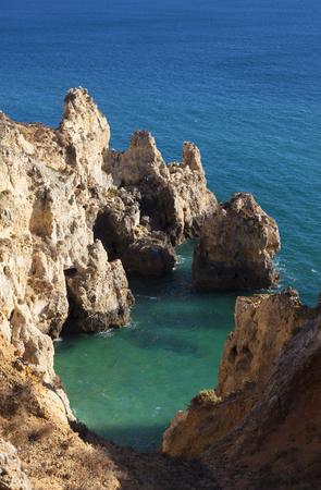 algarve: Punta de Piedade in Lagos, Algarve, Portugal Editorial