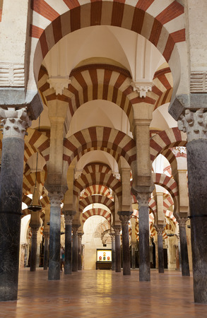 andalucia: Inside the Mosque-cathedral of Cordoba, Andalucia,  Spain Editorial