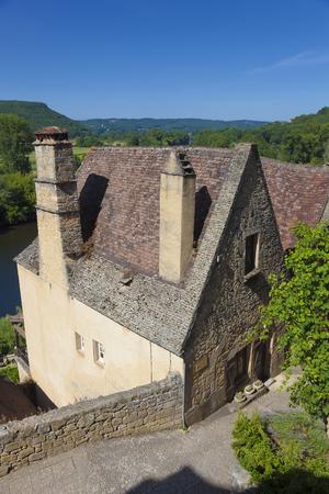 aquitaine: View of Beynac-et-Cazenac, Dordogne, Aquitaine, France Stock Photo