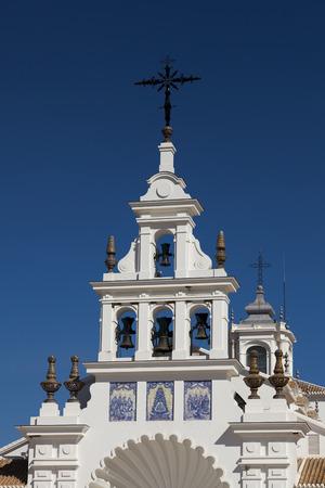 huelva: The church Nuestra Senora del Rocio in Rocio, Huelva, Andalucia, Spain
