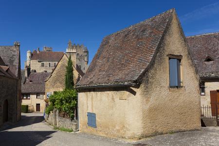 aquitaine: View of Beynac-et-Cazenac, Dordogne, Aquitaine, France Editorial