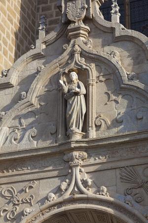 castilla la mancha: Detail of the cathedral of Toledo, Castilla la Mancha, Spain