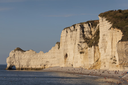 pays: Beach of Etretat, Cote dAlbatre, Pays de Caux, Seine-Maritime department, Upper Normandy region, France Stock Photo