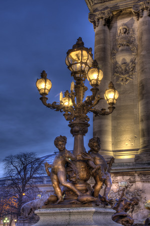 iii: Alexandre III bridge, Paris, Ile-de-france, France Stock Photo