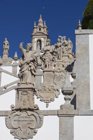 nord: Sculptures in Bom Jesus do Monte, Braga, Nord, Portugal