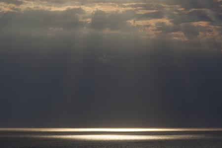 pays: Rays of Sunlight in Etretat, Cote dAlbatre, Pays de Caux, Seine-Maritime department, Upper Normandy region, France