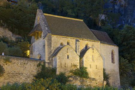 aquitaine: Church in La Roque-Gageac, Dordogne, Aquitaine, France