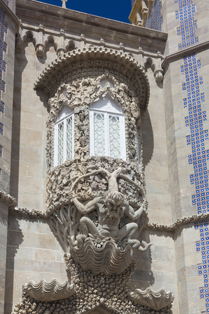 the pena national palace: Detail of the Pena national palace, Sintra, Portugal
