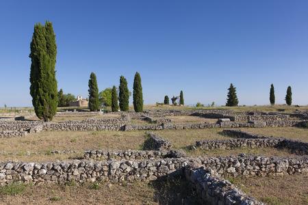 castilla y leon: Ruins of Clunia, Peñalba de Castro, Burgos, Castilla y Leon, Spain Stock Photo