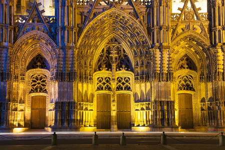 detai: Cathedral of Tours, Indre-et-Loire, France