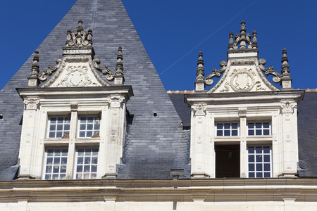Windows of the Castle of Villandry, Indre-et-Loire, France