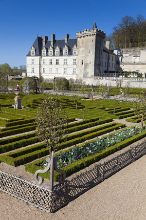 Castle of Villandry, Indre-et-Loire, France Editorial