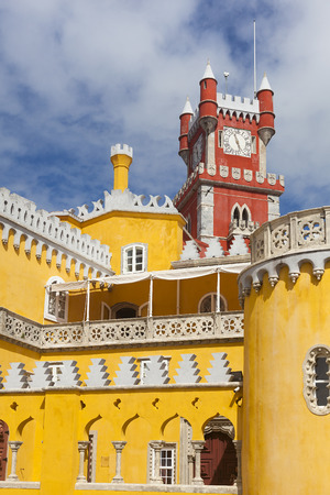 sintra: Pena national palace, Sintra, Portugal Editorial