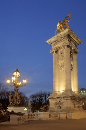 alexandre: Alexandre III bridge, Paris, Ile-de-france, France Editorial